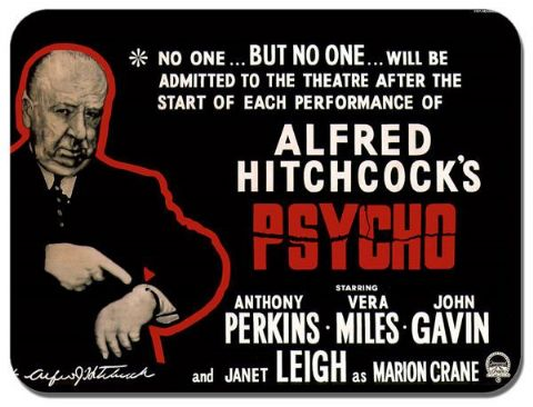 Psycho Movie Mouse Mat C. High Quality Film Poster Mouse Pad. Alfred Hitchcock
